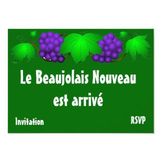 "Beaujolais nouveau invitation green 5"" x 7"" invitation card"