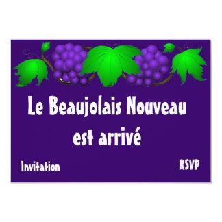 "Beaujolais nouveau invitation purple 5"" x 7"" invitation card"