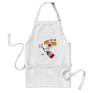 Beaujolais Wine Clown Cartoon Funny Adult Apron