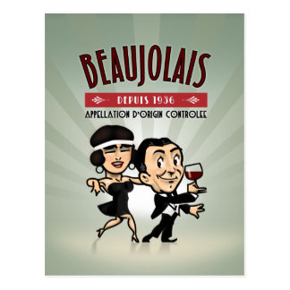 Beaujolais Wine Postcard