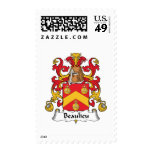 Beaulieu Family Crest Postage Stamp
