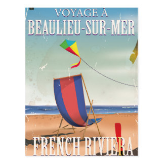 Beaulieu-sur-Mer French Vintage Travel poster Postcard
