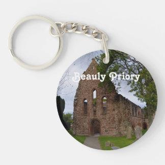 Beauly Priory Single-Sided Round Acrylic Keychain