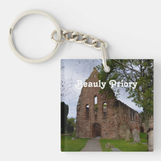Beauly Priory Single-Sided Square Acrylic Keychain