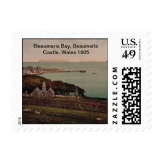 Beaumaris Bay, Beaumaris Castle, Wales 1905 Postage Stamp