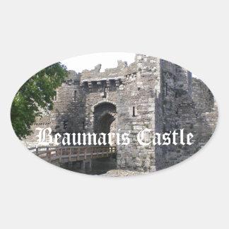 Beaumaris Castle Oval Sticker