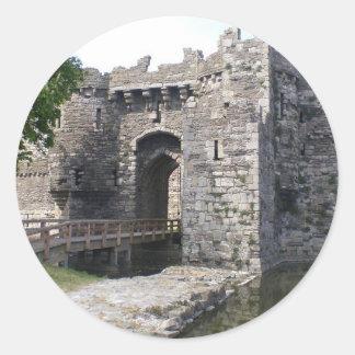 Beaumaris Castle Round Stickers
