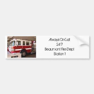 Beaumont Fire Dept. Bumper Sticker
