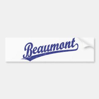 Beaumont script logo in blue bumper stickers