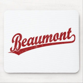 Beaumont script logo in red mouse pad