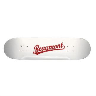 Beaumont script logo in red skate board deck