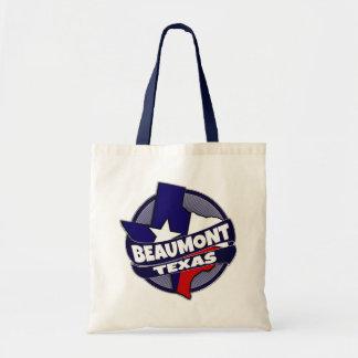 Beaumont Texas flag burst reusable tote bag