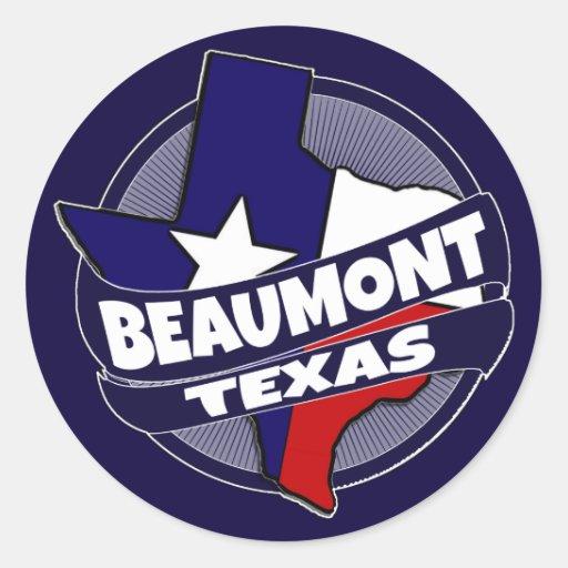 Beaumont texas flag burst stickers zazzle for Sander s motor co beaumont tx
