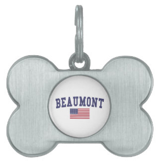 Beaumont US Flag Pet Tag