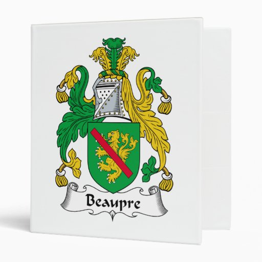 Beaupre Family Crest 3 Ring Binders