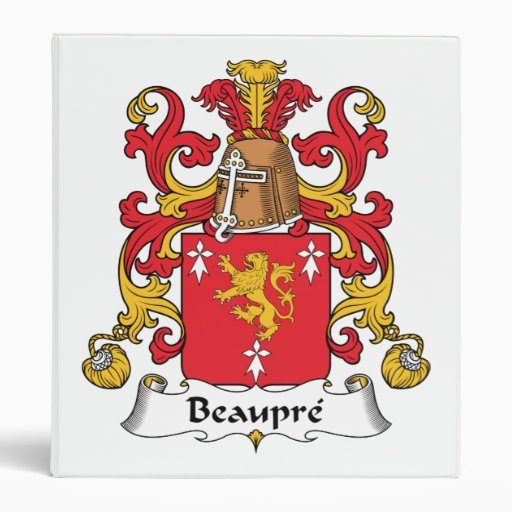 Beaupre Family Crest Binder