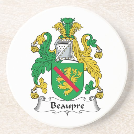 Beaupre Family Crest Drink Coaster