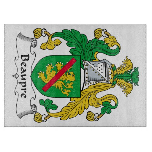 Beaupre Family Crest Cutting Board