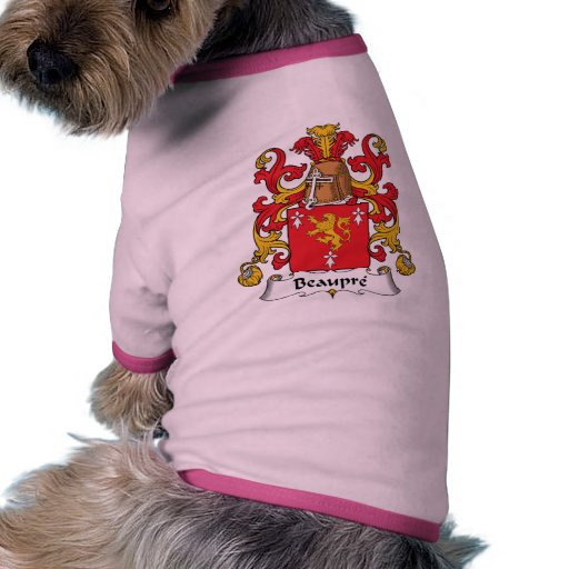 Beaupre Family Crest Dog Clothing