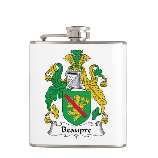 Beaupre Family Crest Hip Flasks