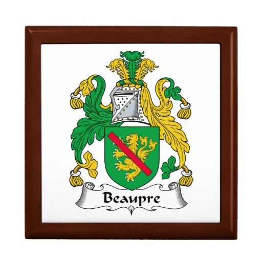 Beaupre Family Crest Jewelry Box