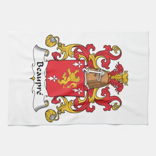 Beaupre Family Crest Hand Towels