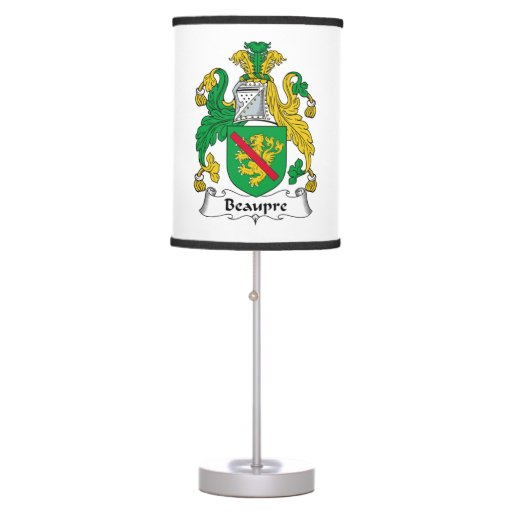 Beaupre Family Crest Desk Lamps