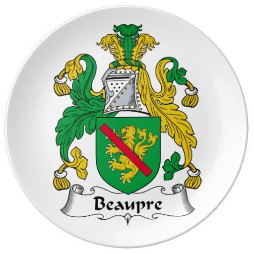Beaupre Family Crest Porcelain Plate