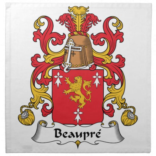 Beaupre Family Crest Printed Napkin