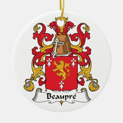 Beaupre Family Crest Christmas Tree Ornament