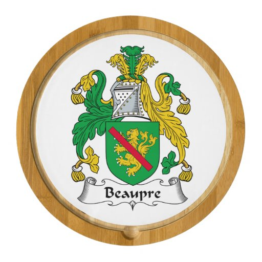 Beaupre Family Crest Round Cheeseboard