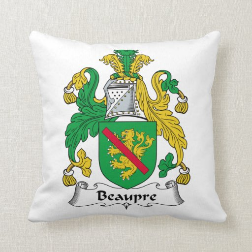 Beaupre Family Crest Pillow