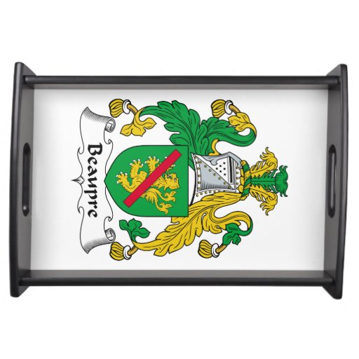 Beaupre Family Crest Food Trays