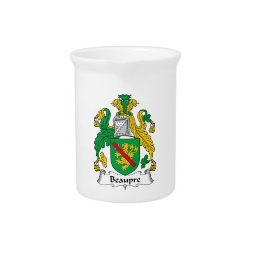Beaupre Family Crest Drink Pitcher