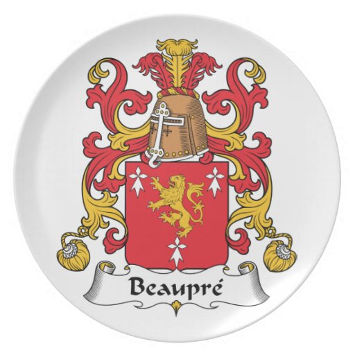 Beaupre Family Crest Plate