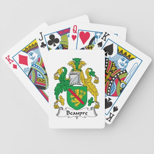 Beaupre Family Crest Bicycle Poker Deck