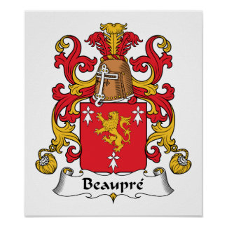 Beaupre Family Crest Poster