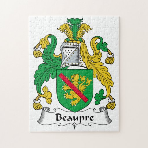 Beaupre Family Crest Jigsaw Puzzles