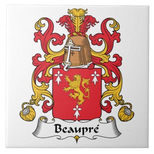 Beaupre Family Crest Tile