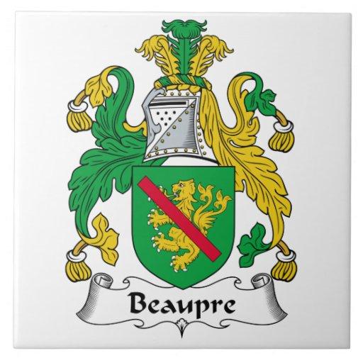 Beaupre Family Crest Tiles