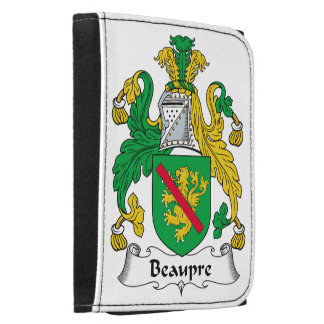 Beaupre Family Crest Leather Trifold Wallets