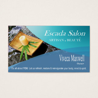 Beauté Salon Day Spa Massage Therapy Aromatherapy Business Card