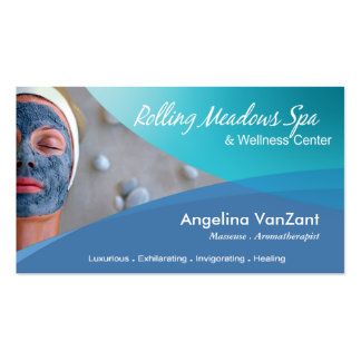 Beauté Salon Day Spa Massage Therapy Aromatherapy Business Card Templates