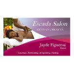 Beauté Salon Day Spa Massage Therapy Aromatherapy Business Card