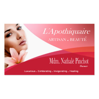Beauté Salon Day Spa Massage Therapy Aromatherapy Business Cards