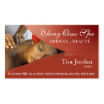 Beauté Salon Day Spa Massage Therapy Aromatherapy Double-Sided Standard Business Cards (Pack Of 100)