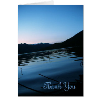Beauteous Blue Thank You Card