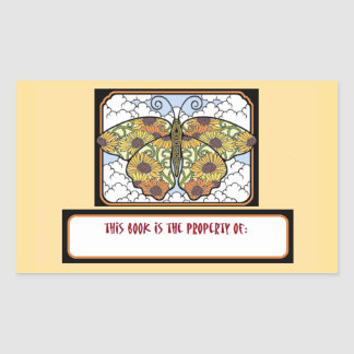 Beautfiul Butterfly Book Nameplate Stickers