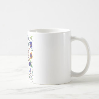 Beautful Jacobean Bird of Paradise Embroidery Coffee Mug