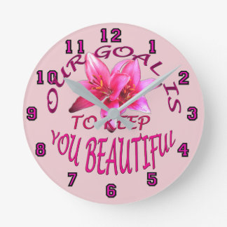 Beautian's Pink Asiatic Lily Wall Clock